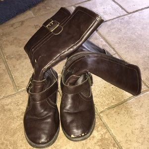 Girls SZ 13 Rampage brown riding boots